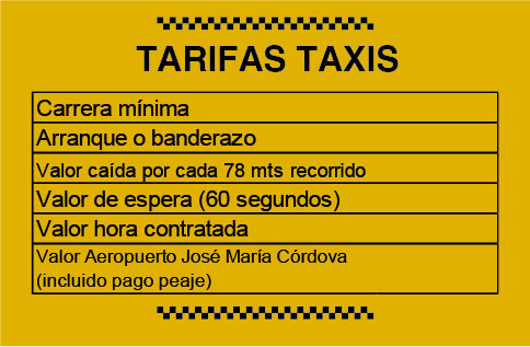 Tarifas Taxis 2020