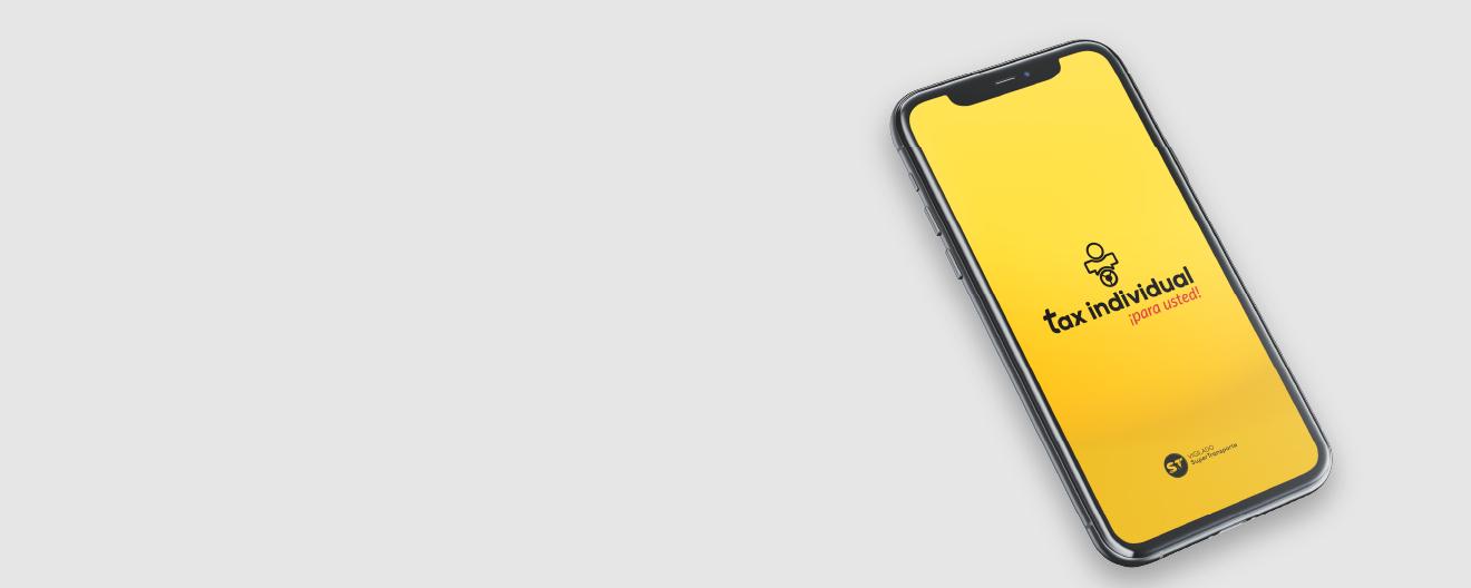 Pide tu taxi con App Pasajero Tax Individual